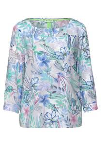 Street One Damen Bluse mit Blumen Print in Weiß