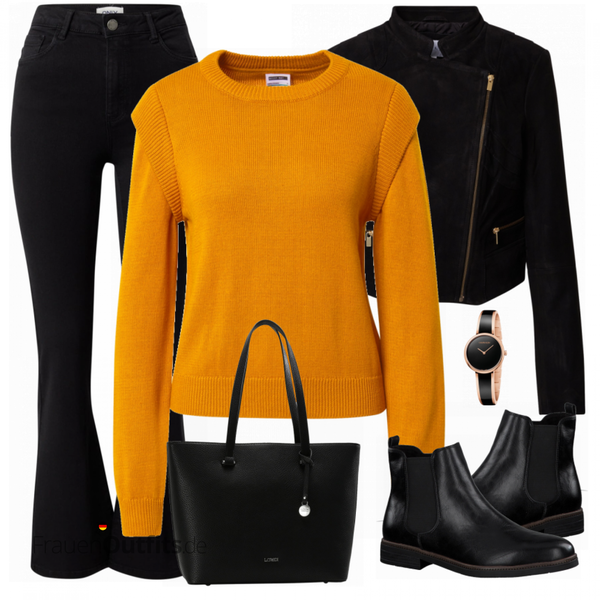 Buntes Herbst Outfit FrauenOutfits.de