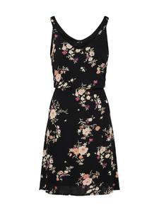 ONLY Kleid pfirsich / fuchsia / schwarz