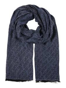 JOOP! Jeans Schal taubenblau / schwarz