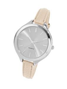 Heine Armbanduhr creme / silber