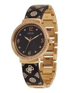 GUESS Uhr ''MOTIF'' gold / schwarz / weiß