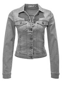 ONLY Damen onlWESTA Jacket PIM121147NOOS Jeansjacke, Grau (Grey Denim Grey Denim), 36