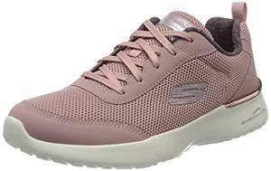Skechers Damen Skech-air Dynamight-Fast Brak Sneaker, Violett (Mauve Mesh/Off White Trim Mve), 38 EU