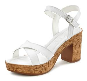 LASCANA Sandalette weiß