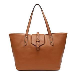 SHOMICO Henkeltasche, Schultertasche Handtasche für Frauen Große Praktische Crescent Schultertasche mit dem kleinen Geldbeutel (Groß, BRÄUNEN)