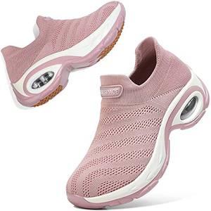 Sixspace Damen Sneaker Turnschuhe Atmungsaktiv Laufschuhe Leichtgewichts Walkingschuhe Sportschuhe Freizeitschuhe Straßenlaufschuhe Trainer für Outdoor Fitness Gym(Pink,39 EU)