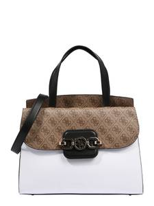 GUESS Tasche ''HENSELY'' braun / weiß / creme