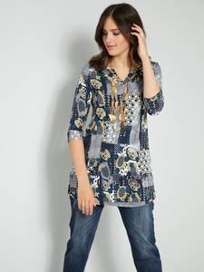 Tunika-Shirt marineblau/goldfarben Janet & Joyce