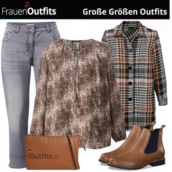 Herbstliche  Mode für Mollige FrauenOutfits.de