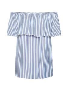 ONLY Bluse KENZA blau / weiß