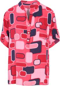 Cassis - Ruime blouse in viscose - Fushia