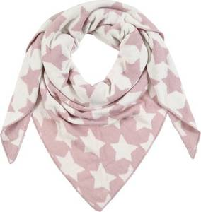 Zwillingsherz Dreieckstuch mit Sternenprint rosa / weiß