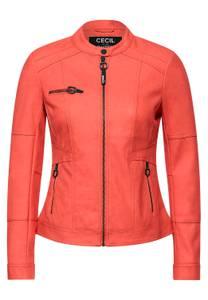 CECIL Damen Kunstleder-Jacke aus PU in Orange