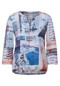 CECIL Damen Bluse mit maritimen Print in Blau