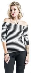 Fashion Victim Stripes Langarmshirt