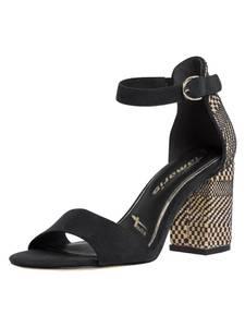 TAMARIS Sandale schwarz / beige