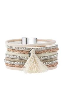 LASCANA Armband beige / creme / hellbraun