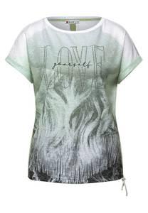 T-shirt met fotoprint - faded green
