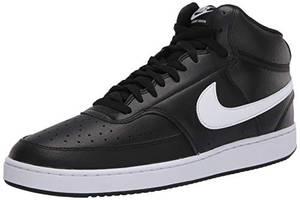 Nike Herren Court Vision MID Basketballschuhe, Mehrfarbig (Black/White 001), 43 EU