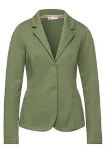 Blazer in basic stijl - smoky green