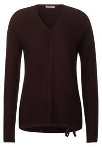CECIL Damen Pullover mit Struktur-Mix in Braun