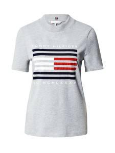 TOMMY HILFIGER Shirt grau / nachtblau / rot