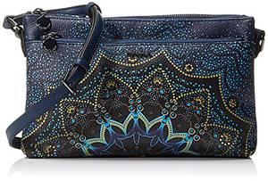 Desigual Damen Bag Tekila Sunrise Durban Umhängetasche, Blau (Petrucho), 17.5x4x27.2 cm