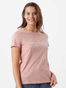 TOMMY HILFIGER T-Shirt rosa / weiß
