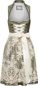 MARJO Kleid ''Galia'' beige / grün
