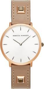 Rebecca Minkoff Uhr ''Major'' dunkelbeige / weiß