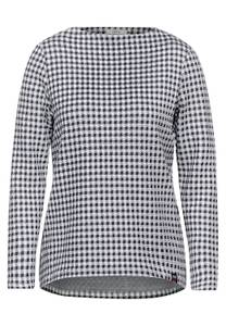 Shirt met Vichy-ruiten - pure off white