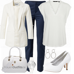 Business Outfit in weiß FrauenOutfits.de