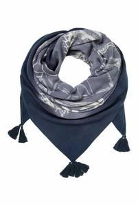 Soccx Tuch mit Dip-Dye-Effekt und Print blau