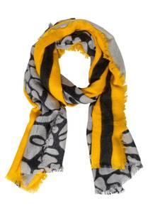 STREET ONE Schal gelb / schwarz / grau