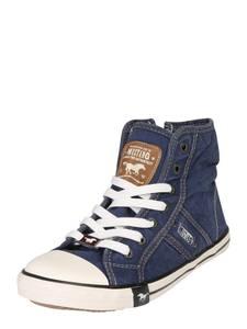 MUSTANG Sneaker blue denim / weiß / braun