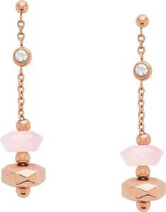 FOSSIL Ohrhänger rosegold / rosa / weiß