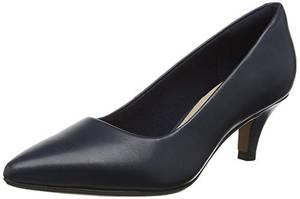 Clarks Damen Linvale Jerica Pumps, Blau (Navy Leather), 35.5 EU