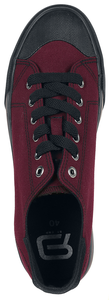 RED by EMP Dunkelrote Sneaker