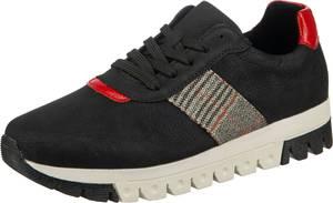 RIEKER Sneaker schwarz / hellrot / hellgrau