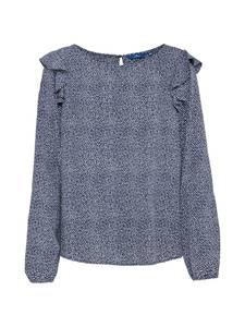 TOM TAILOR Bluse feminine flounce blouse dunkelblau