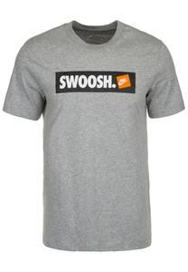 Nike Sportswear T-Shirt ''Swoosh'' grau / weiß / schwarz / orange
