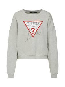 GUESS Sweatshirt grau / rot / weiß