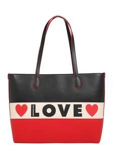 Love Moschino Shopper BORSA SMALL GRAIN beige / rot / schwarz