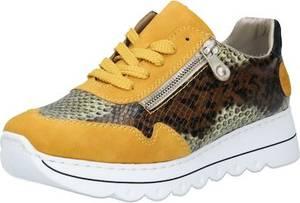 RIEKER Sneaker braun / gelb