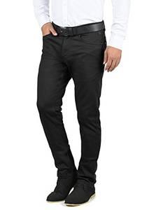 Blend Saturn Herren Chino Hose Stoffhose Aus Stretch-Material Regular Fit, Größe:W34/30, Farbe:Black (70155)