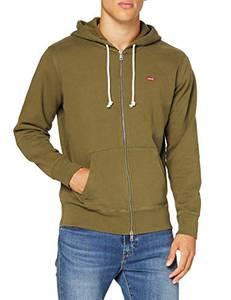 Levi''s Herren Zip Up Sweatshirt, Olive Night, M