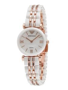 Emporio Armani Uhr naturweiß / rosegold / transparent