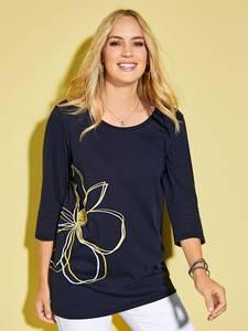 Shirt marineblau/gelb/weiß MIAMODA