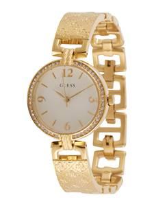 GUESS Uhr gold / beige